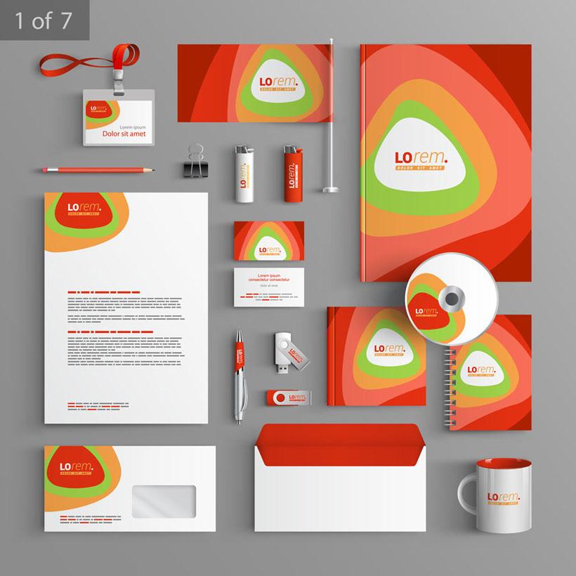 工作证 u盘 钢笔 光盘包装 vi模板 vi设计 广告设计 矢量素材