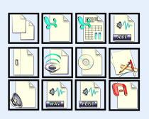 黑边框常用系统图标PNG图标