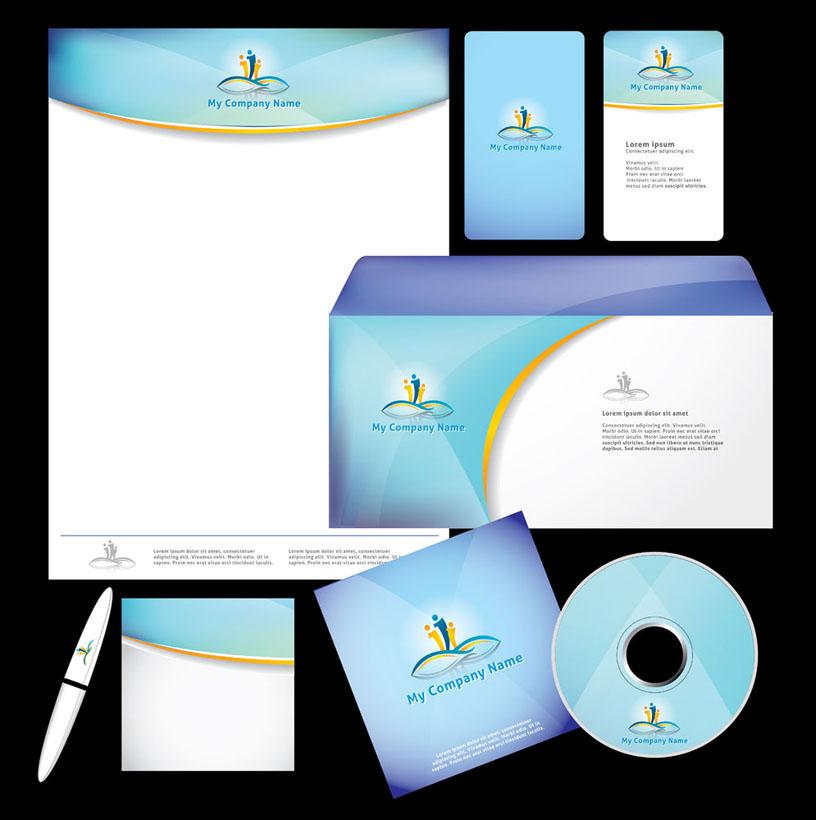 名片模板 工作证 钢笔 光盘包装 vi模板 vi设计 广告设计 矢量素材