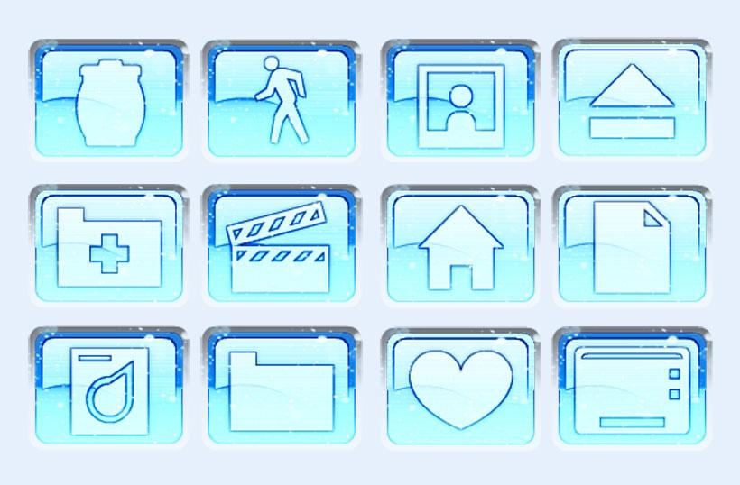 音乐 电影 安全 垃圾桶 蓝色 系统设置 系统图标 png图标 免费素材 pn