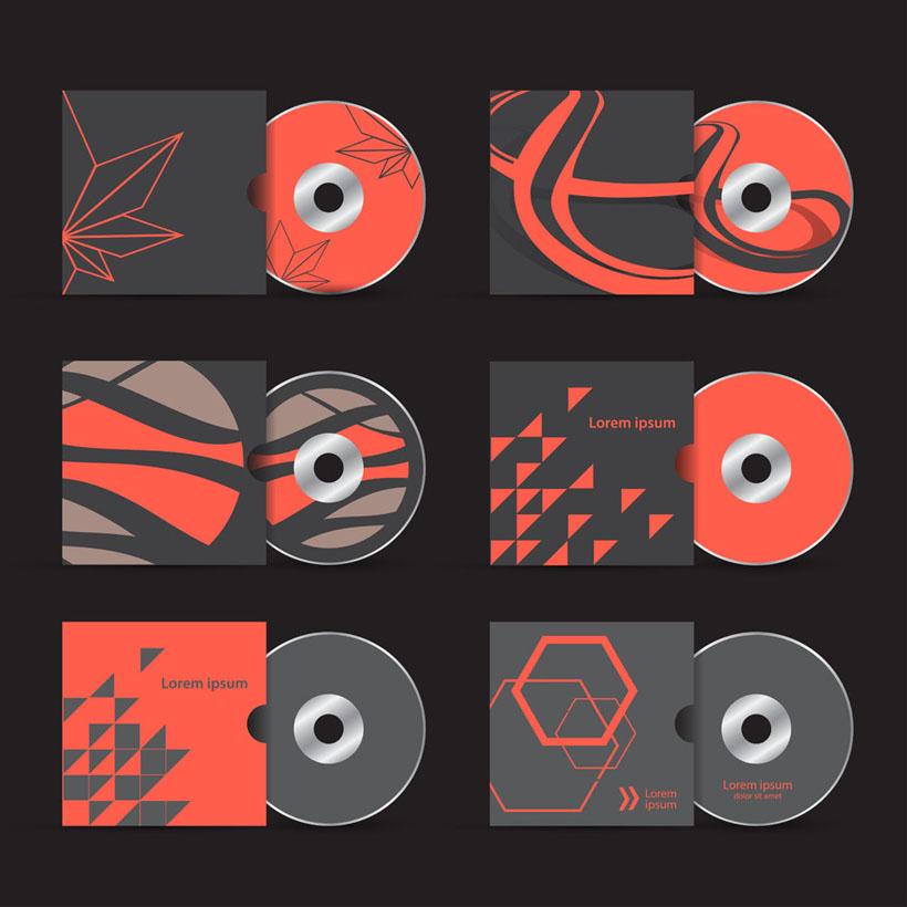 爱图首页 矢量素材 标识标志 vi 创意 设计 动感 红色 cd袋 cd碟子