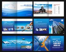 蓝色企业宣传画册设计PSD素材