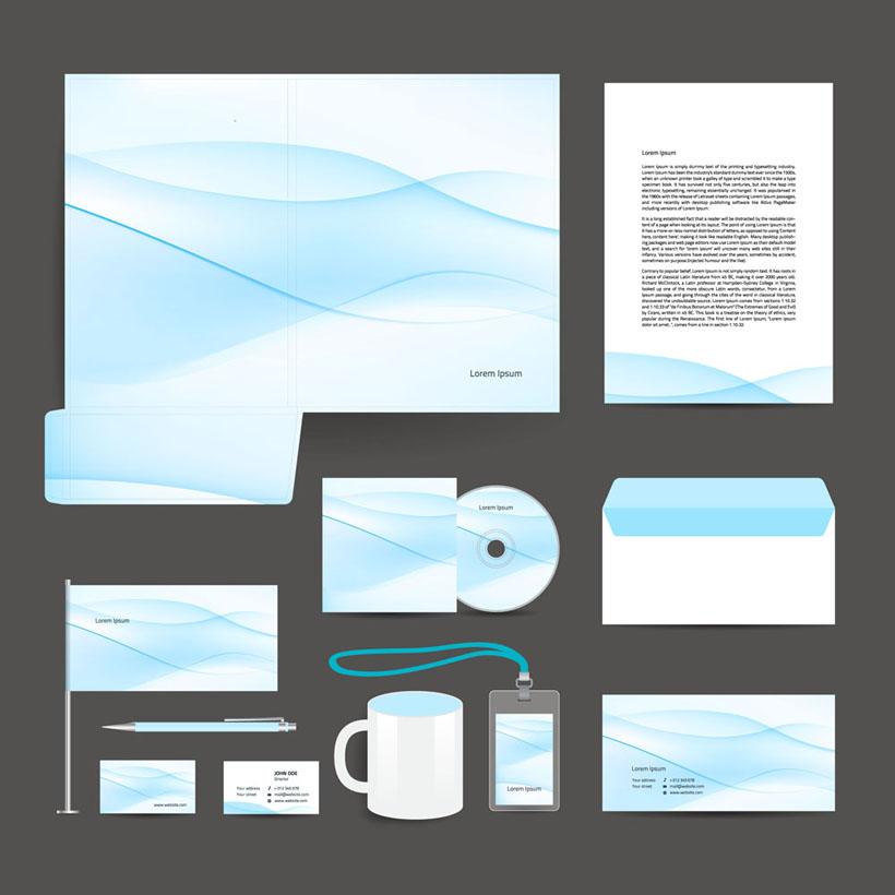 素材 标识标志 蓝色 淡蓝 背景 封面 设计 标识 vi 矢量 茶杯 工作证
