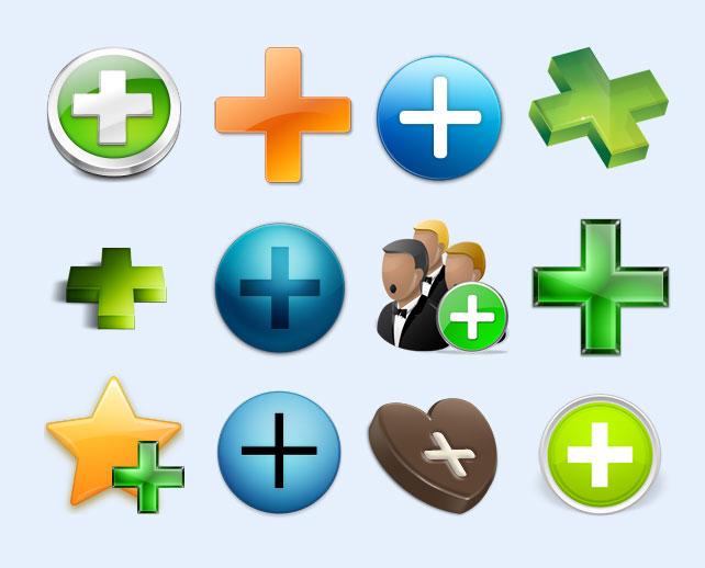 绿色添加符号png图标