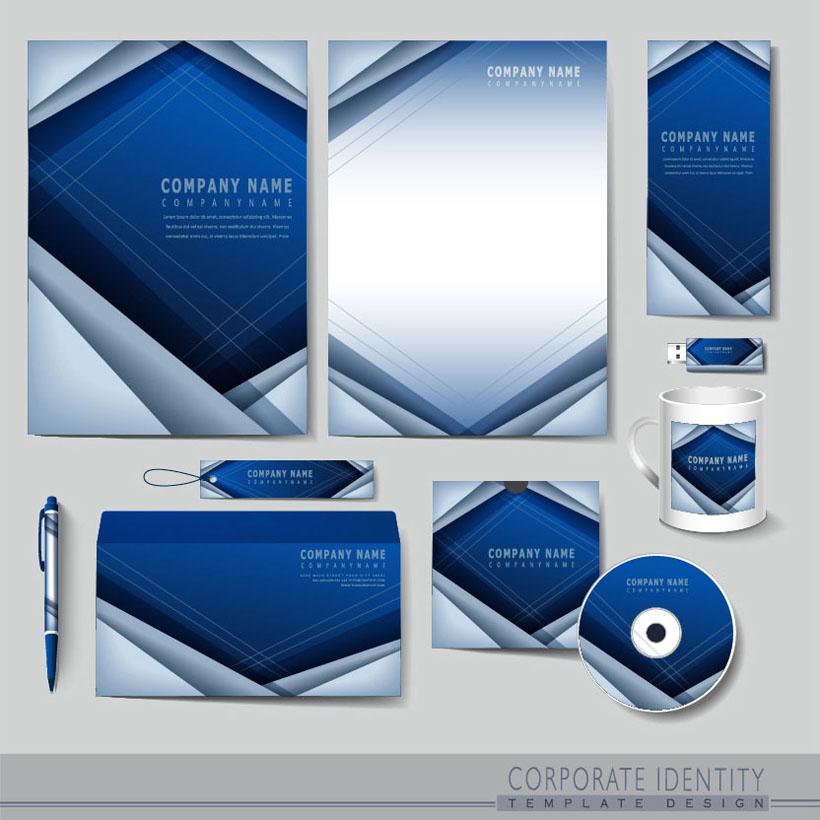 创意蓝标识vi设计矢量素材
