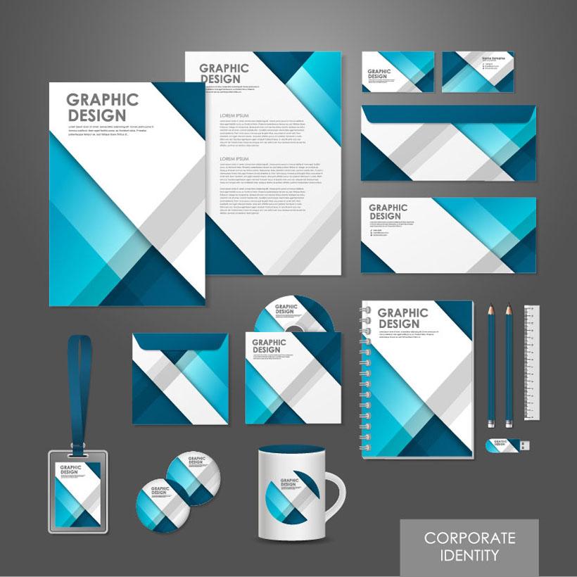 企业标识发展vi设计矢量素材