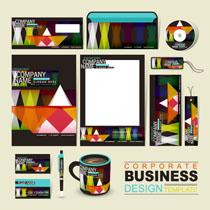 个性色彩VI标识设计矢量素材