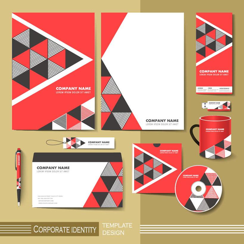 色彩格子vi标识设计矢量素材