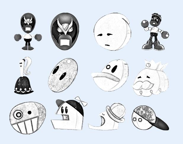 卡通小人黑白(6)