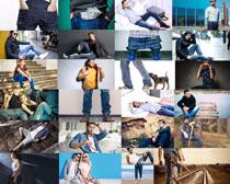 牛仔裤男人摄影高清图片