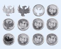 飞翔的鸟类标志PNG图标