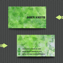 绿色简单名片设计矢量素材
