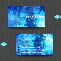 蓝色科技背景名片矢量素材