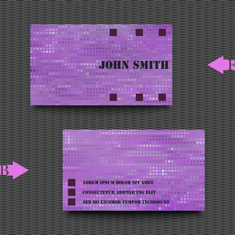 紫色背景名片矢量素材