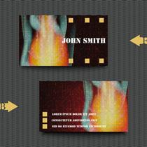 火焰效果名片背景矢量素材