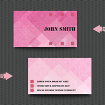 粉色背景名片矢量素材