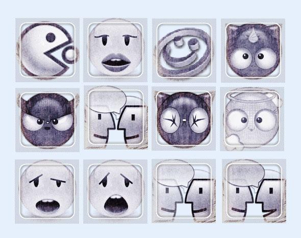 图标表情的风格PNG表情-爱图网v图标图片素材一的天躺黑白包图片
