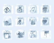 摩擦风格的相册图标PNG图标