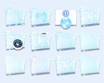 蓝光文件夹PNG图标