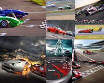 赛道上行驶的赛车摄影高清图片