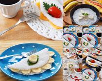 国外甜品早餐摄影高清图片