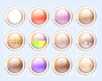 白色边框的按钮图标PNG图标