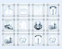 素描风格的回收站PNG图标