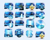 蓝色闪光的系统图标PNG图标