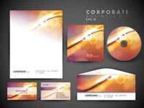 企业光芒图案模板矢量素材