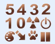 阿拉伯数字设计PNG图标