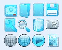 亮蓝色的浏览器PNG图标