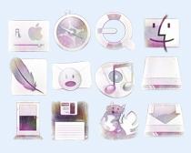 浅粉色的内存图标PNG图标