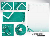绿色公司设计标识VI矢量素材