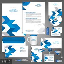 公司蓝色设计VI矢量素材