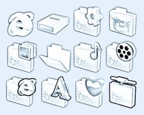 浅蓝色的文件夹PNG图标