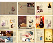 古典养生宣传画册设计矢量素材