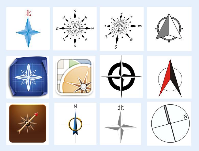 指南针方向盘png图标