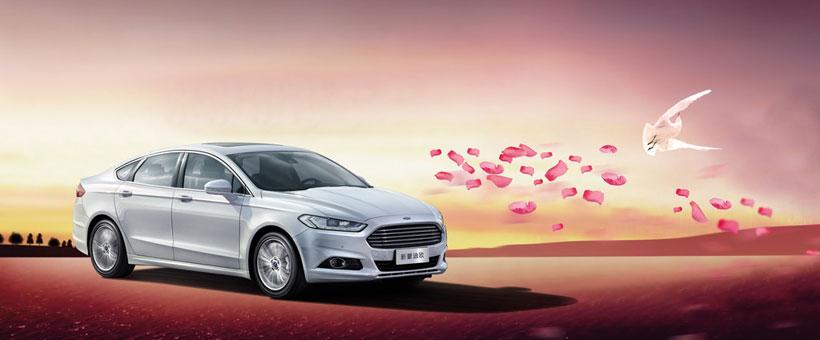 福特汽车新款促销海报设计psd素材