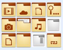 棕色的音乐文件夹PNG图标