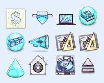 蓝色的工具PNG图标