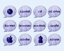 磨砂风格的苹果标志PNG图标