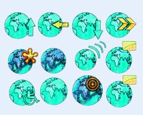 绿色的地球PNG图标