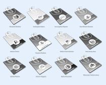 黑白的球场设计PNG图标