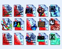 油画风格的播放器PNG图标