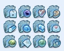 雪花文件夹PNG图标