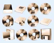 复古的光碟片PNG图标