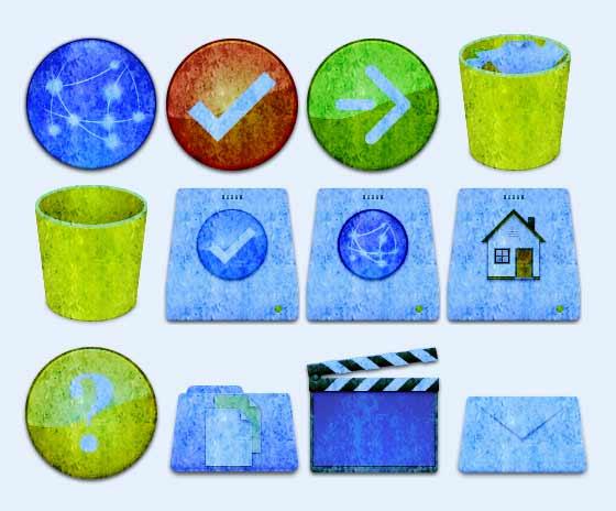 爱图首页 图标素材 创意图标 绿色 桌面 垃圾桶 箭头 回收站 打钩
