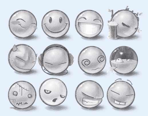可爱的笑脸图标png图片素材