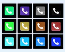 蓝色的电话按钮图标PNG图标