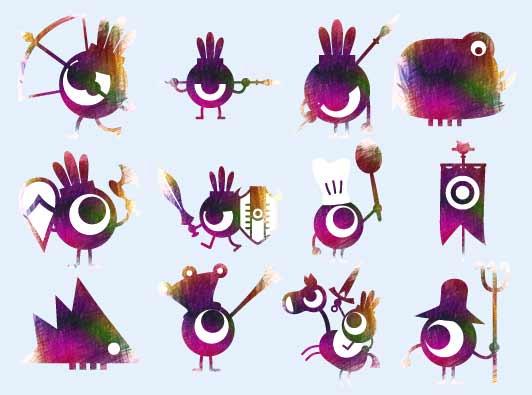 可爱的飞鸟图标png图片素材